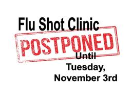 MVMS Flu Shot Clinic Postponed