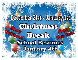 MVMS...Christmas Break