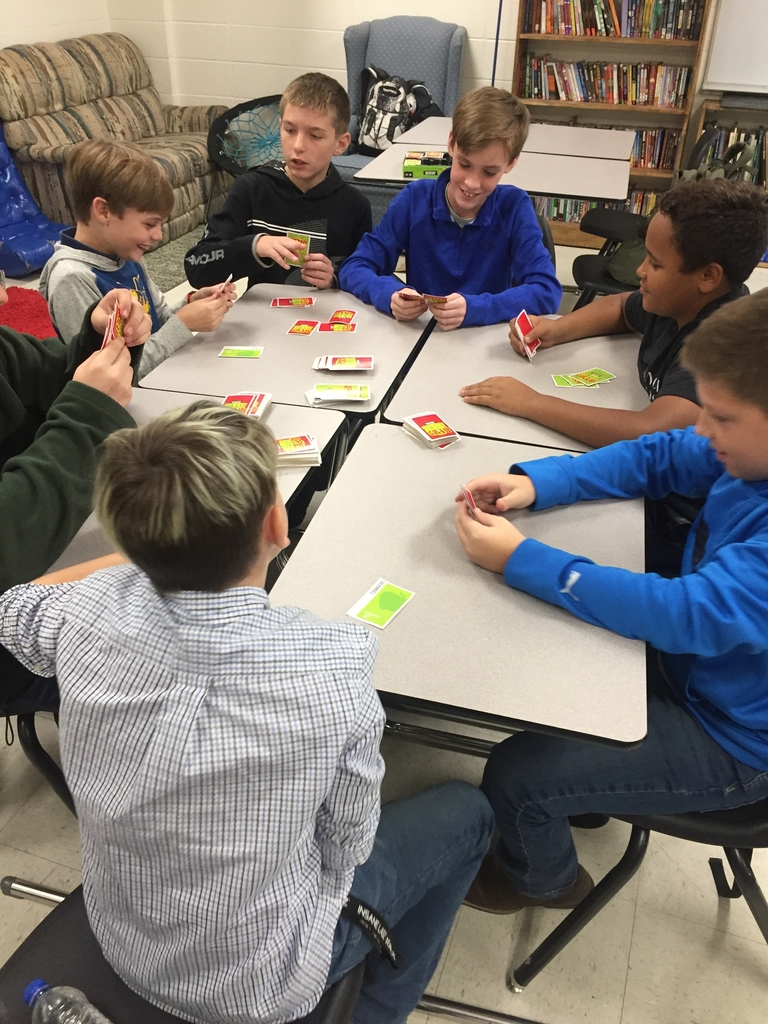 Students playing apples to apples