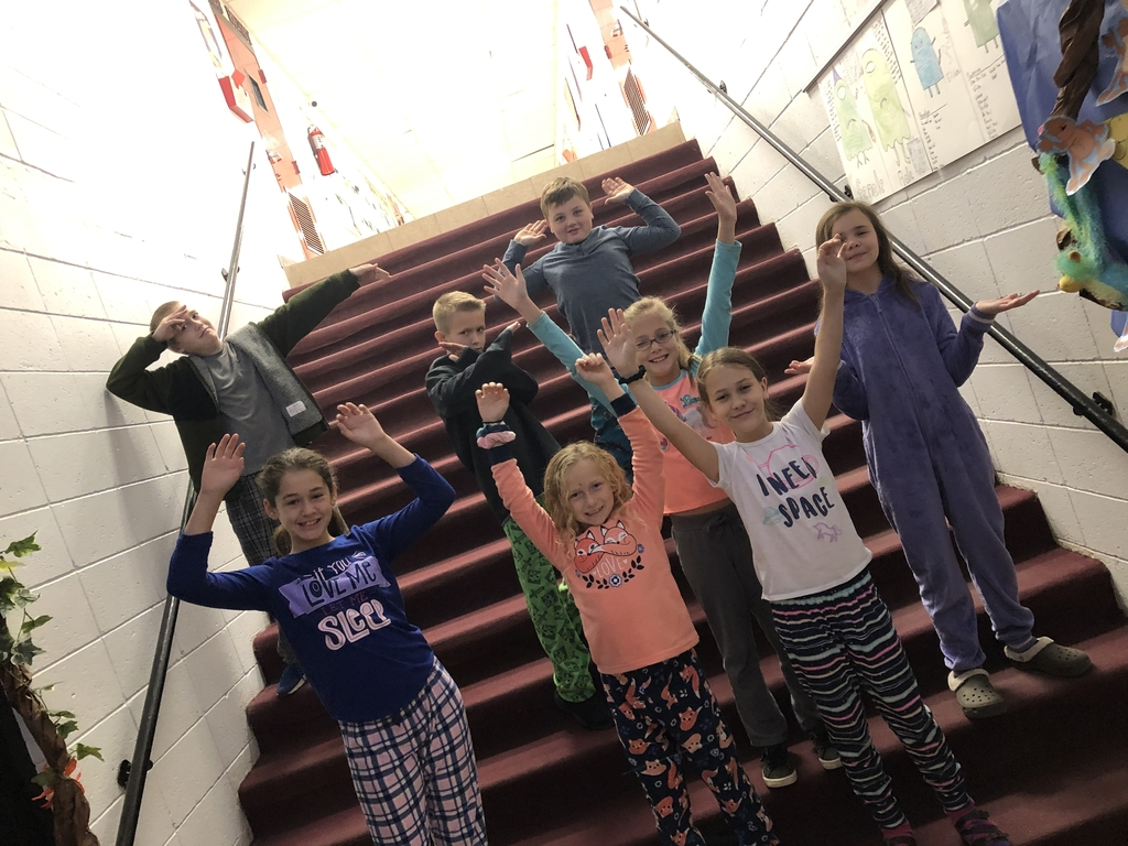 A few 5th graders rocking their pjs