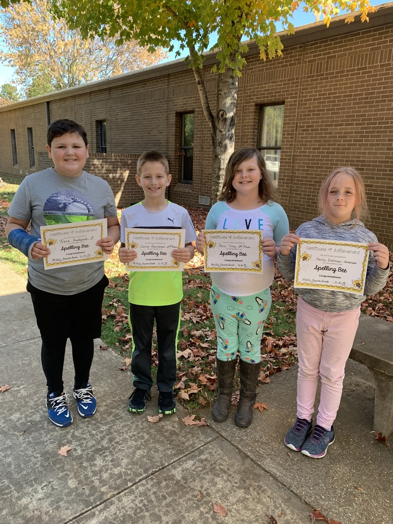 4th Grade Spelling Bee Winners