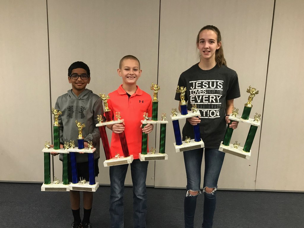 County Spelling Bee winners