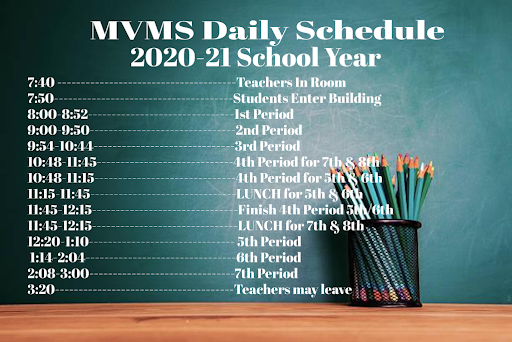 MVMS Daily Schedule